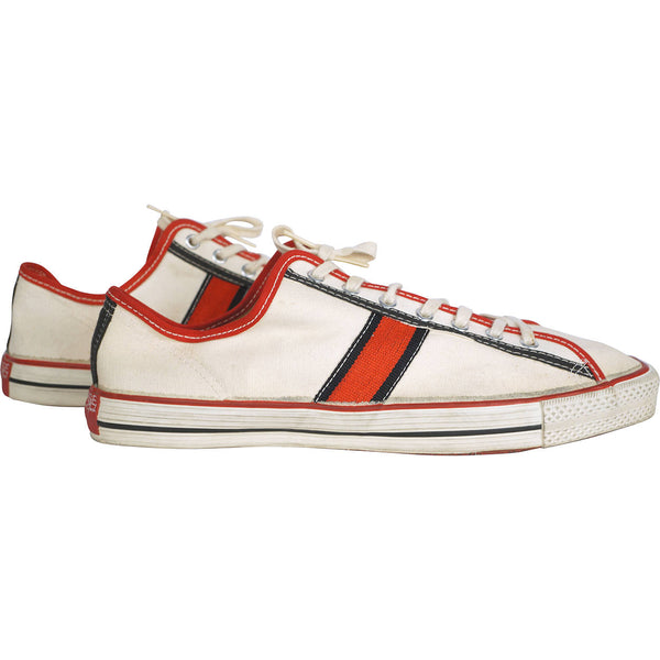 Converse Lou Brock Sneakers Vintage 1969 Unused Shoes Low Top Size 11 1/2 - Poppy's Vintage Clothing