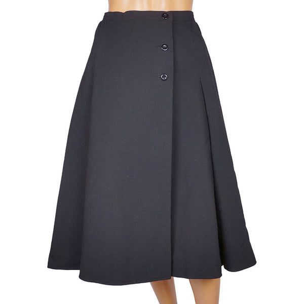 Vintage-1970s-Courreges-Black-Wool-Skirt