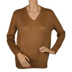 Vintage-Courreges-Paris-Brown-Pullover-Sweater