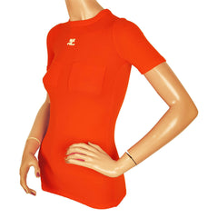 Vintage-Courreges-Orange-Top
