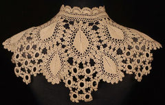 Antique Crochet Lace Collar Victorian Hand Made