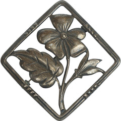 Danecraft Sterling Silver Pin Flower Brooch circa 1930s Canadian Mark - Poppy's Vintage Clothing