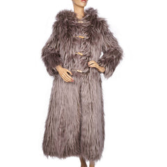 Vintage Danish Faux Fur Coat 1970s Mugge Kolpin Design Gunnar Knudsen Ladies S - Poppy's Vintage Clothing