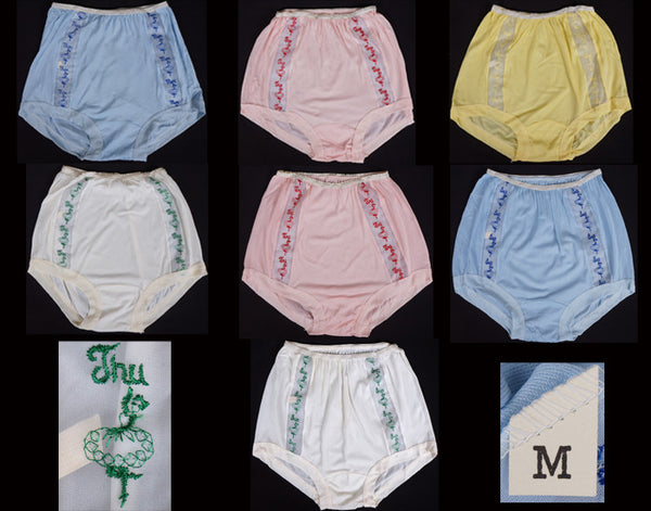 Vintage Days of the Week Panties
