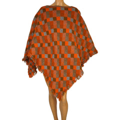 Vintage 1960s Wool Poncho AG Deweys of Vermont Quechee Gorge - Poppy's Vintage Clothing
