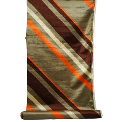Panton Era Diagonal Striped Panne Velvet Fabric Material 4 yards 1960s 70s