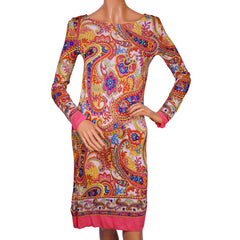 Dolce & Gabbana Paisley Print Dress - Size 40 - S - Poppy's Vintage Clothing