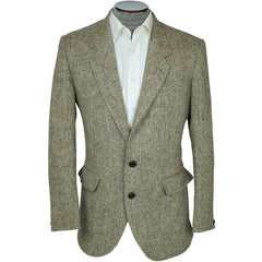 Vintage Harris Tweed Barleycorn Mens Jacket Dunn & Co Sport Coat Size M - Poppy's Vintage Clothing