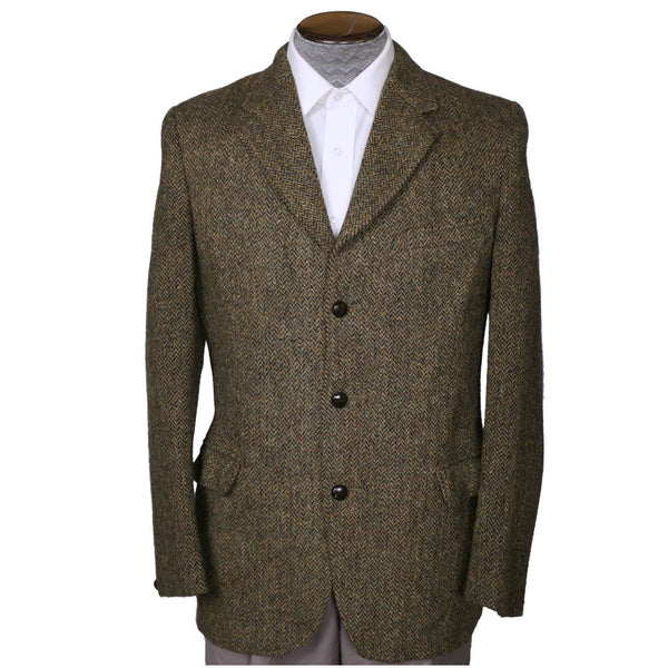 Vintage 1960s Harris Tweed Mens Jacket Dunn and Co Britain Sport Coat - M - Poppy's Vintage Clothing