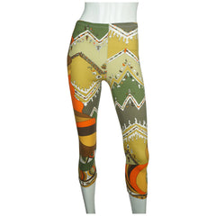 Vintage 1960s Emilio Pucci Stretch Pants Leggings 60s Mod Designer 100% Helanca - Poppy's Vintage Clothing