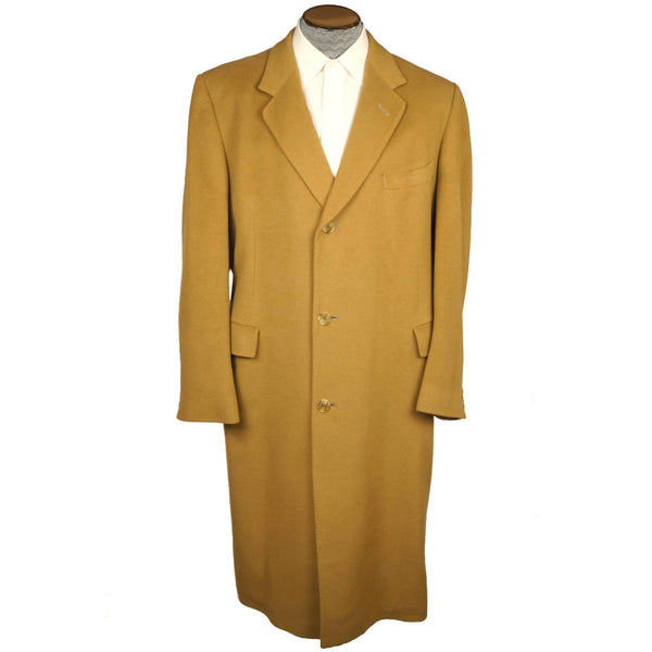 Vintage-English-100%-Cashmere-Overcoat