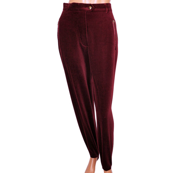 Escadt-Burgundy-Velvet-Stirrup-Pants