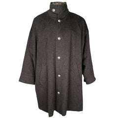 Eskandar Mens Coat Oversized Wool Cashmere Overcoat England