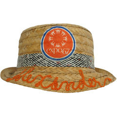 Expo 67 Souvenir Straw Trilby Hat Montreal World Fair Boys Size - Poppy's Vintage Clothing