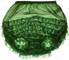 Vintage Sheer Nylon Panty Green Lace Frill Ruffles Unused w Tag - Poppy's Vintage Clothing