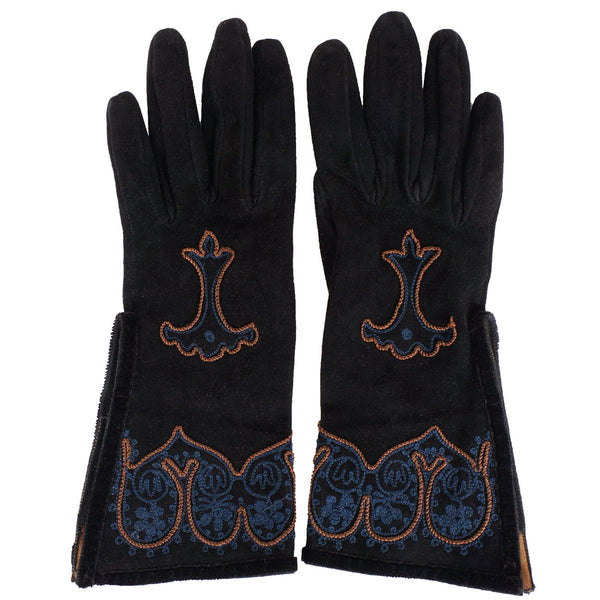 Vintage Fendi Suede Womens Gloves - Poppy's Vintage Clothing