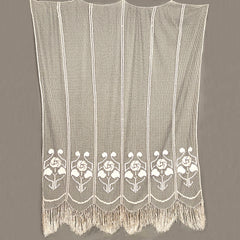 Vintage Handmade Lace Curtain Fishermans Net Hand Knotted