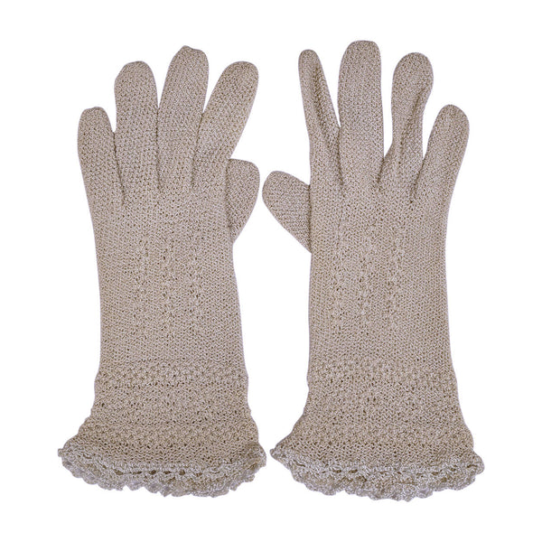 Vintage-Crochet-Knit-Grey-Gloves