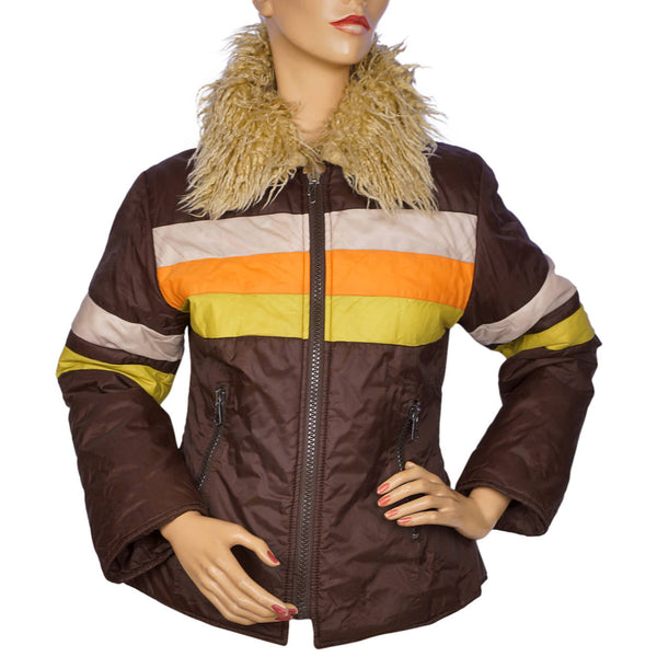 Vintage 1970s Fiorucci Ski Jacket Made in Italy Size M Rare - Poppy's Vintage Clothing
