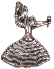 Vintage Mexican Sterling Silver Figural Brooch Latin Dancer Playing Maracas by Alero - Poppy's Vintage Clothing