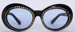 Vintage 1960s Sunglasses Rhinestone Studded Frame Made in France - Poppy's Vintage Clothing