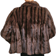 Vintage-50s-Russian-Squirrel-Fur-Jacket-Back View