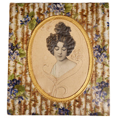 Antique Ganong Bros Chocolate Candy Box Art Nouveau Lady c 1900 New Brunswick - Poppy's Vintage Clothing