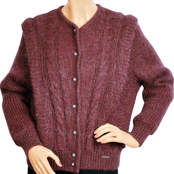 Vintage Geiger Tyrol Sweater Made in Austria Brick Red - Ladies Size 42 - Poppy's Vintage Clothing