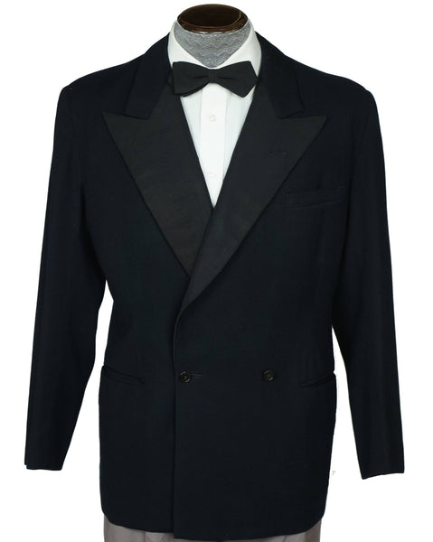 Vintage 1950 Mens Tux Dinner Jacket Gibb & Co Montreal Size M - Poppy's Vintage Clothing