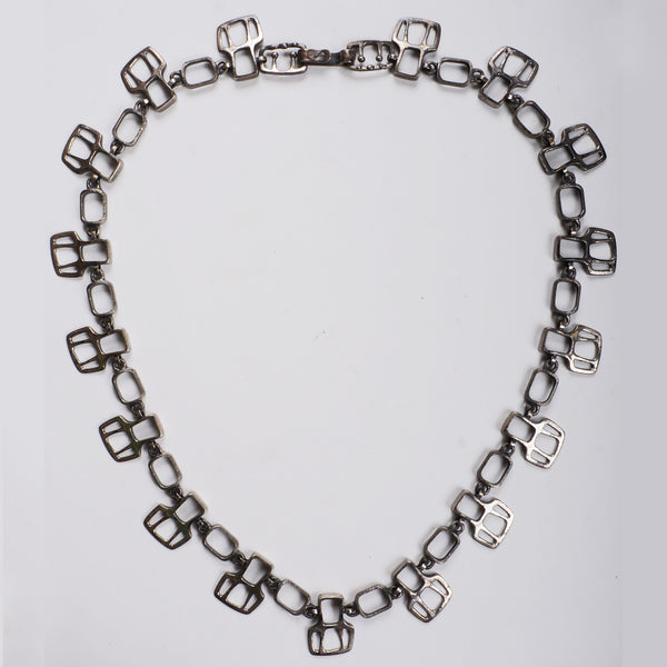 Gilles-Guy-Vidal-Pewter-Belt-Necklace
