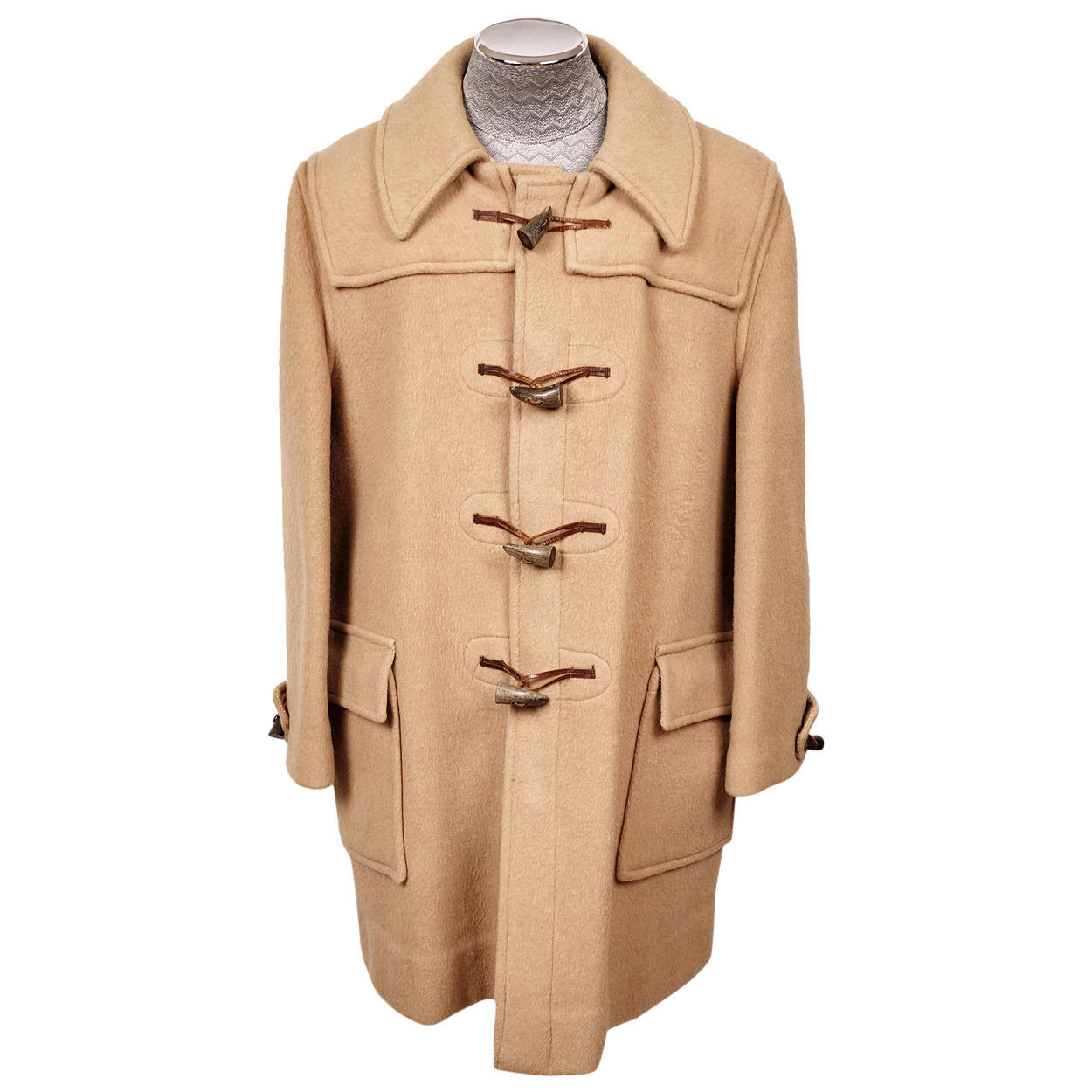 Famous Vintage Gloverall Duffle Toggle Coat Made in England Mens Size L CE27