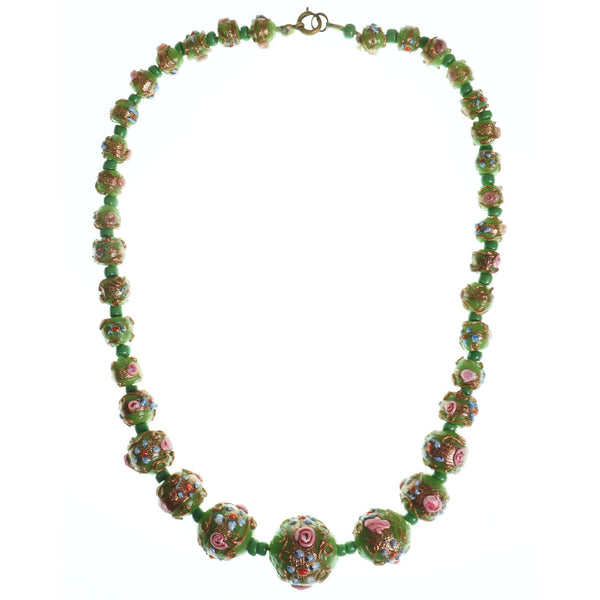 Vintage-Venetian-Lampwork-Wedding-Cake-Choker-Necklace