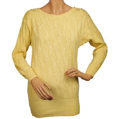 Vintage-Guy-Laroche-Yellow-Cotton-Flax-Sweater