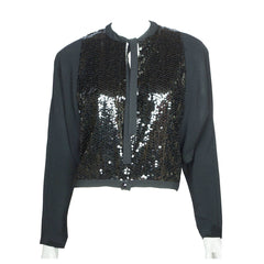 Vintage 1970s Guy Laroche - Paris Sequinned Jacket - Boutique Collection - Size 40 - Poppy's Vintage Clothing