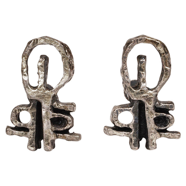 Guy-Vidal-Brutalist-Earrings