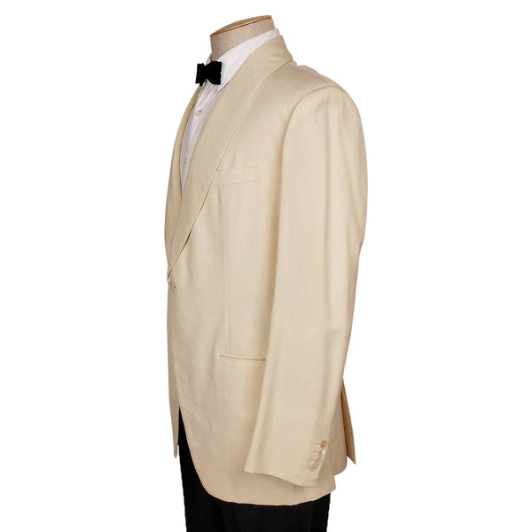 Vintage 1970s H Creed & Co Paris Mens Off White Dinner Jacket Size M - Poppy's Vintage Clothing