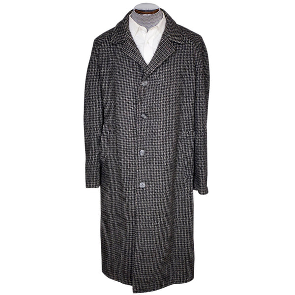 Vintage 1950s Harris Tweed Mens Overcoat Size XL Coat - Poppy's Vintage Clothing