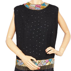 Vintage-1960s-Heftco-Sequinned-Wool-Shell-Top