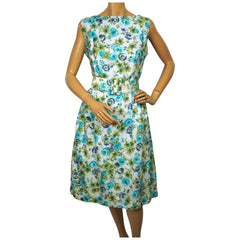 Vintage-1950s-Floral-Cotton-Day-Dress