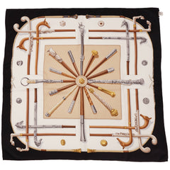 Hermes-Silk-Twill-Scarf-Cannes-et-Pommeaux
