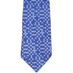 Hermes Tie Silk Twill 7942 MA Blue Squares Necktie - Poppy's Vintage Clothing
