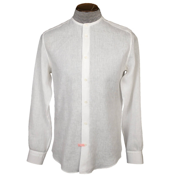 Hermes-White-Linen-Mens-Shirt