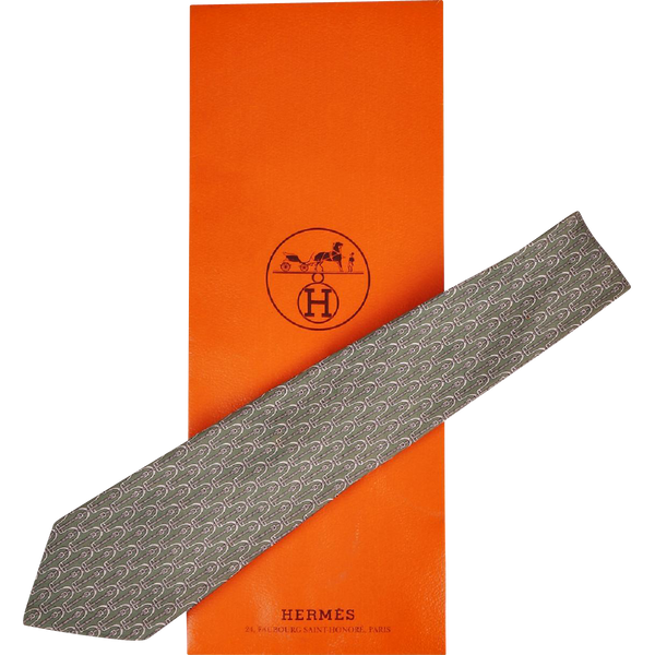 Vintage Hermes Tie Silk Twill 7212 UA Mint Green Mens Necktie Made in France - Poppy's Vintage Clothing