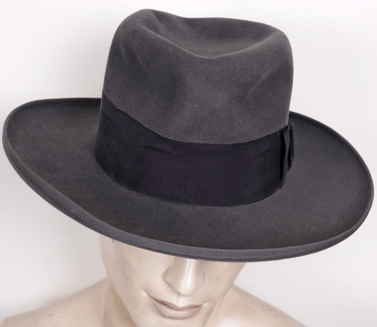 1930s Wide Brimmed Fedora by Huckel Czechoslovakia Gray Mens Hat 7 1 4 f3bbc0bd154