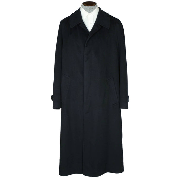 Vintage Loro Piana Pure Cashmere Coat by Hugo Boss Black Overcoat Size 2XL - Poppy's Vintage Clothing