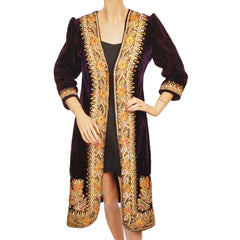 Vintage-60s-Hippie-Purple-Velvet-Gold-Embroidered-Coat