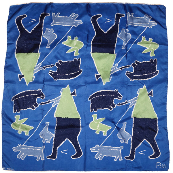 Vintage-Inunoo-Silk-Scarf-Inuit-Hunting-Drawing-by-Parr
