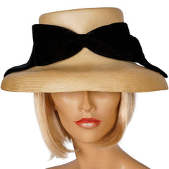 1950s Straw Bucket Hat