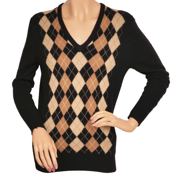 Jaeger-Argyle-Pattern-Cashmere-Ladies-Sweater