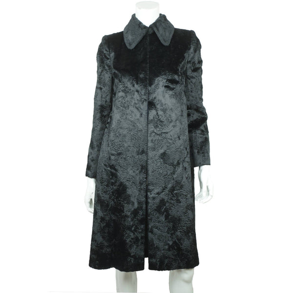 Vintage 1960s Jean Patou Boutique Paris Black Velvet Coat France Ladies Size M - Poppy's Vintage Clothing